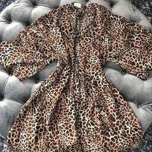 Animal print kimono